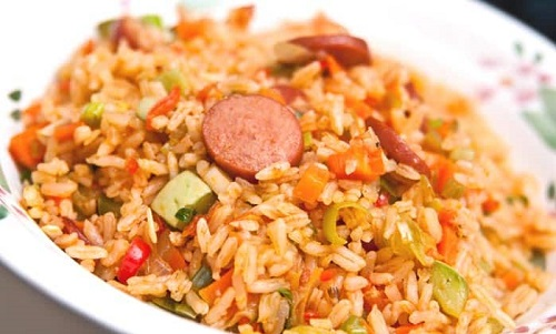 calories fried rice